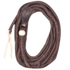 Cowboy Tack Vaquero Braided Nylon Mecate With Horsehair