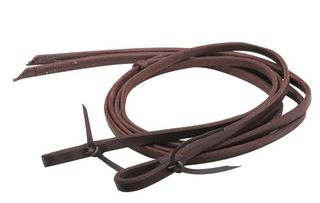 Showman® Heavy Oiled Harness Reins with Weighted Ends 5/8