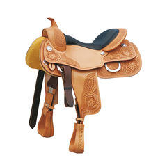 POOL'S GENUINE REINER FLOWERS 555 SADDLE westernové sedlo